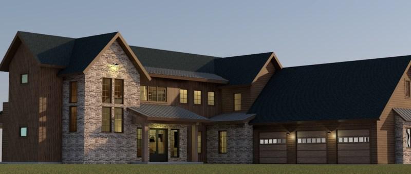 Rustic Lakehouse Farmhouse style design