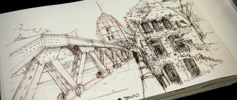 Inktober 2020 Getting To The River Walk