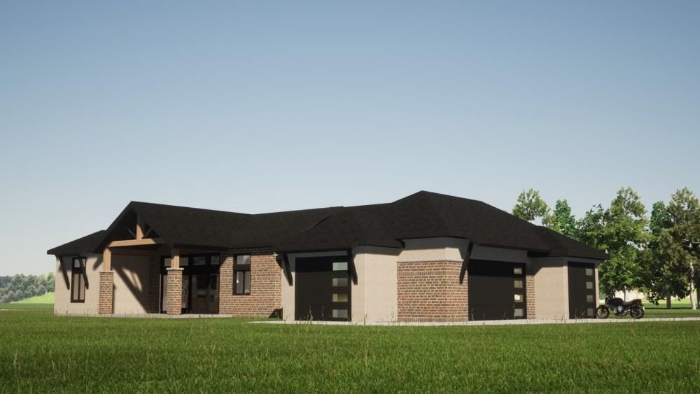 Contemporary Prairie House Render