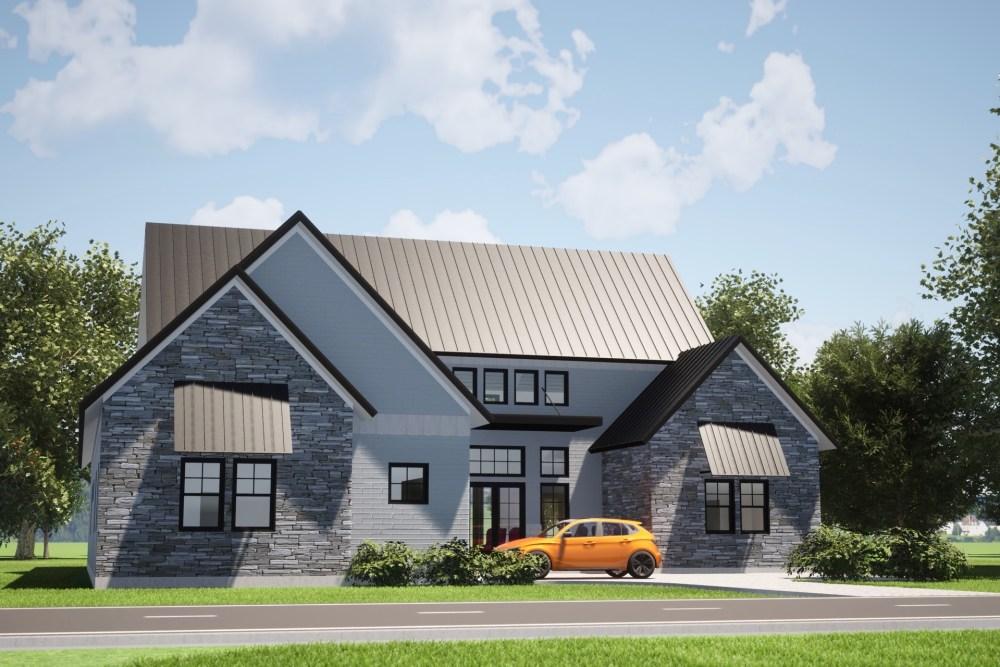 Modern Farmhouse - Front Elevation