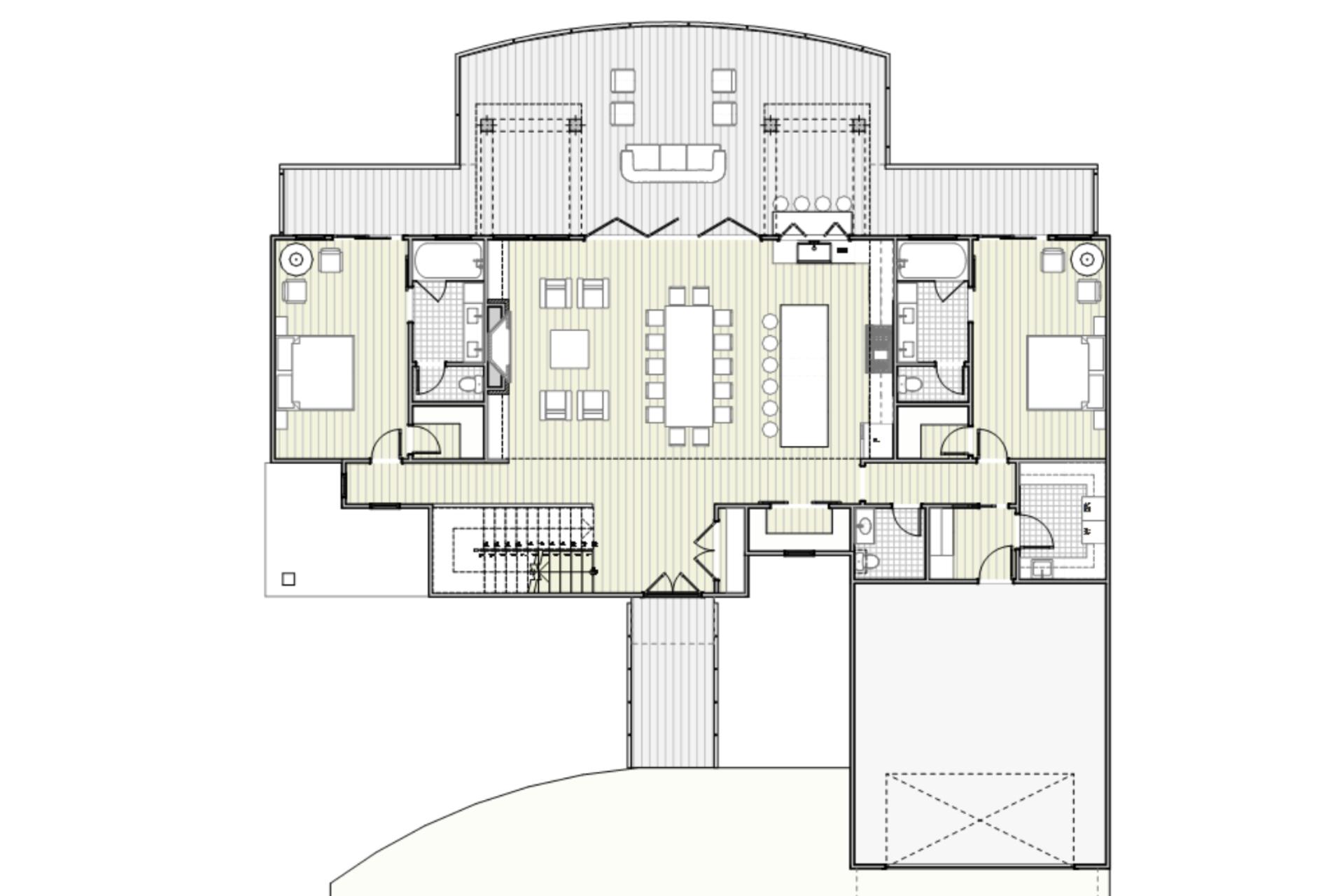 Modern Rustic Lakehouse Floor Plan