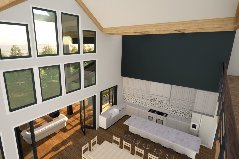 Modern Rustic Lakehouse Interior