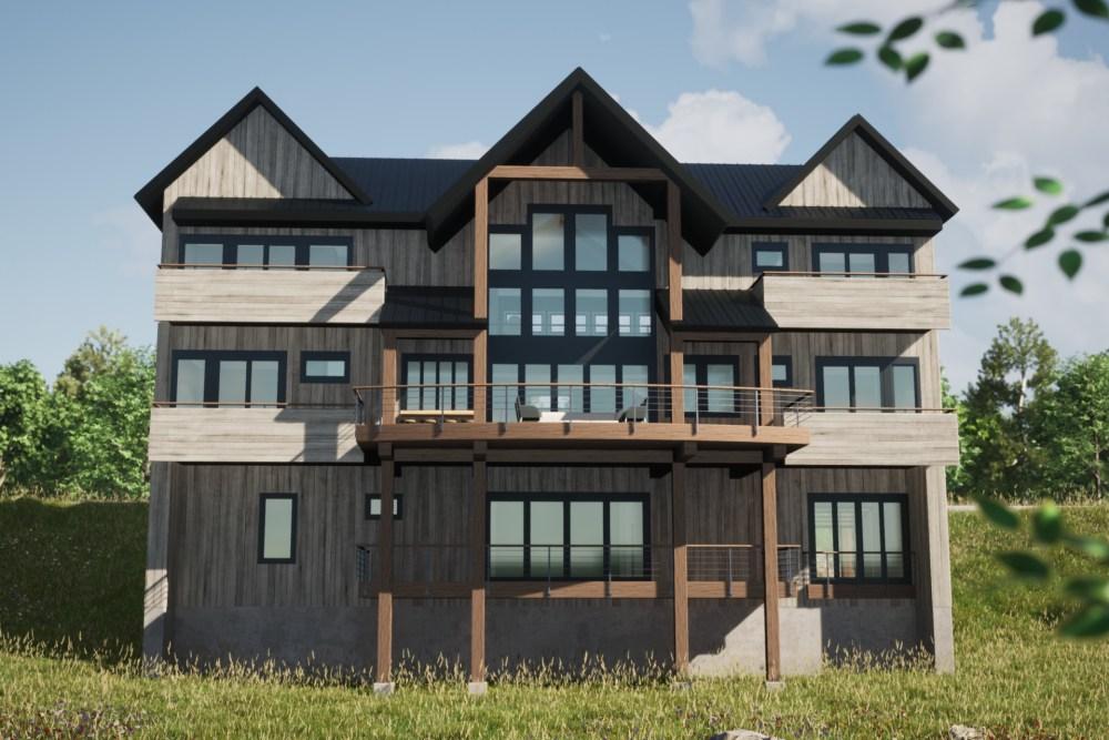 Modern Rustic Lakehouse Exterior