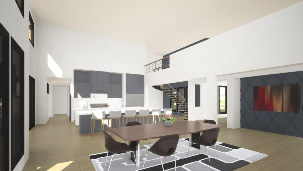 Contemporary House Plan Interior