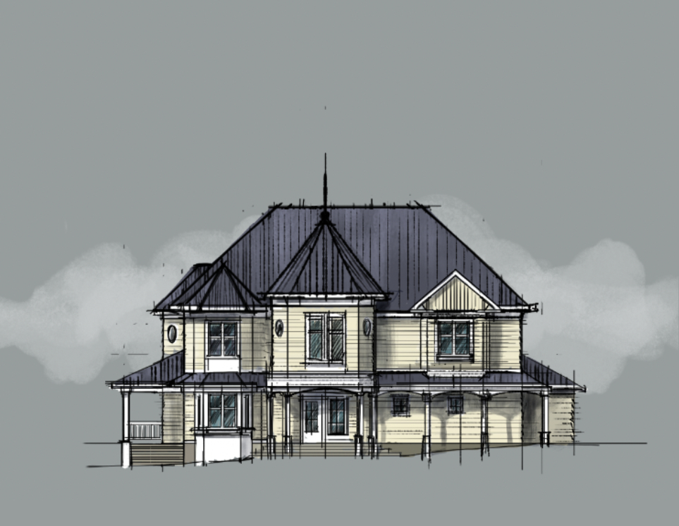 Victorian House Sketches