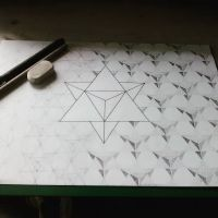 Work in progress.... #mandala #sacredgeometry #handdrawn #floweroflife #merkaba #star#tetrahedron #drawing #art #design #sketch #artwork #wip #dotwork