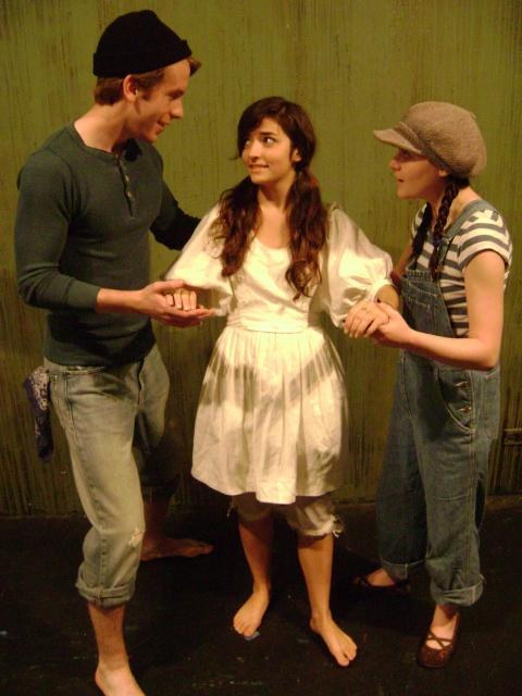 """Brett Lee, Amanda Bobbitt and Marissa Cowsill in """"Judith Lynn: A Story of the Sea"""""""