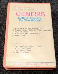 The back cover of the Genesis album