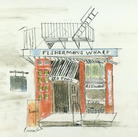 The Fisherman's Wharf - corner of Houston and Mott Street in New York's Little Italy - by Nicki Fllipponi