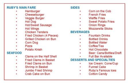 RUBY menu