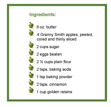 ingredients apple cake