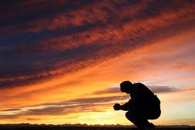 prayer at sunrise