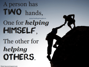 you-have-two-hands-one-to-help-yourself-and-one-to-help-others