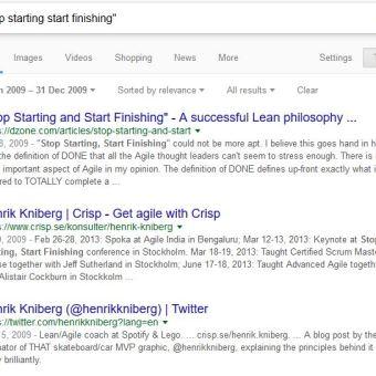 Stop Starting, Start Finishing 2009
