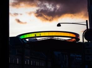 Aarhus Art Museum with Rainbow Skywalk