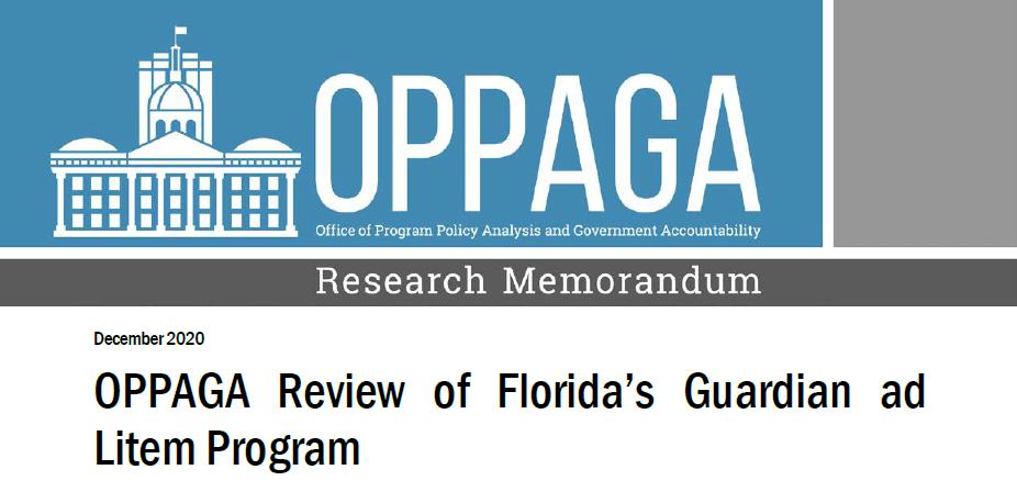OPPAGA report banner