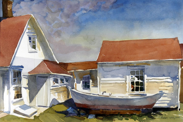 """""""Keeper's House - Monhegan Island, Maine"""", by Robert Leedy, 2004, watercolor on paper, 12.75 x 18.75 in., Collection of theArtist"""