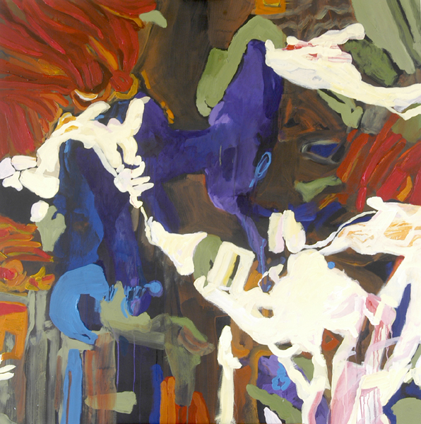 """""""Untitled B"""" by Robert Leedy,2007, acrylic on canvas, 48 x 48 in., Collection of theArtist"""