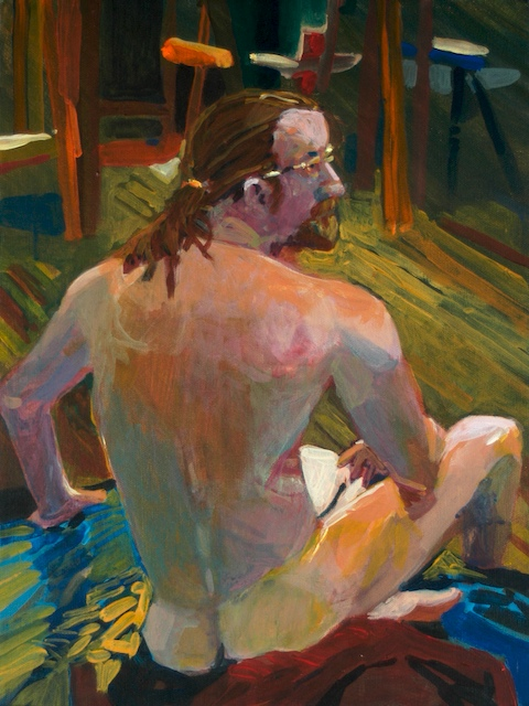 """Figure I"". by Robert Leedy, 2005, acrylic on canvas, Collection of the Artist"