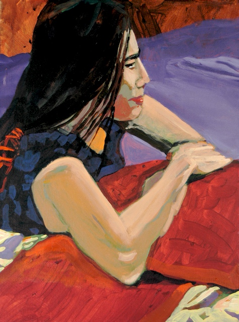 """""""Denver Figure Series III"""", by Robert Leedy, 2005, acrylic on canvas, 12 in. x 16 in., Collection of theArtist"""