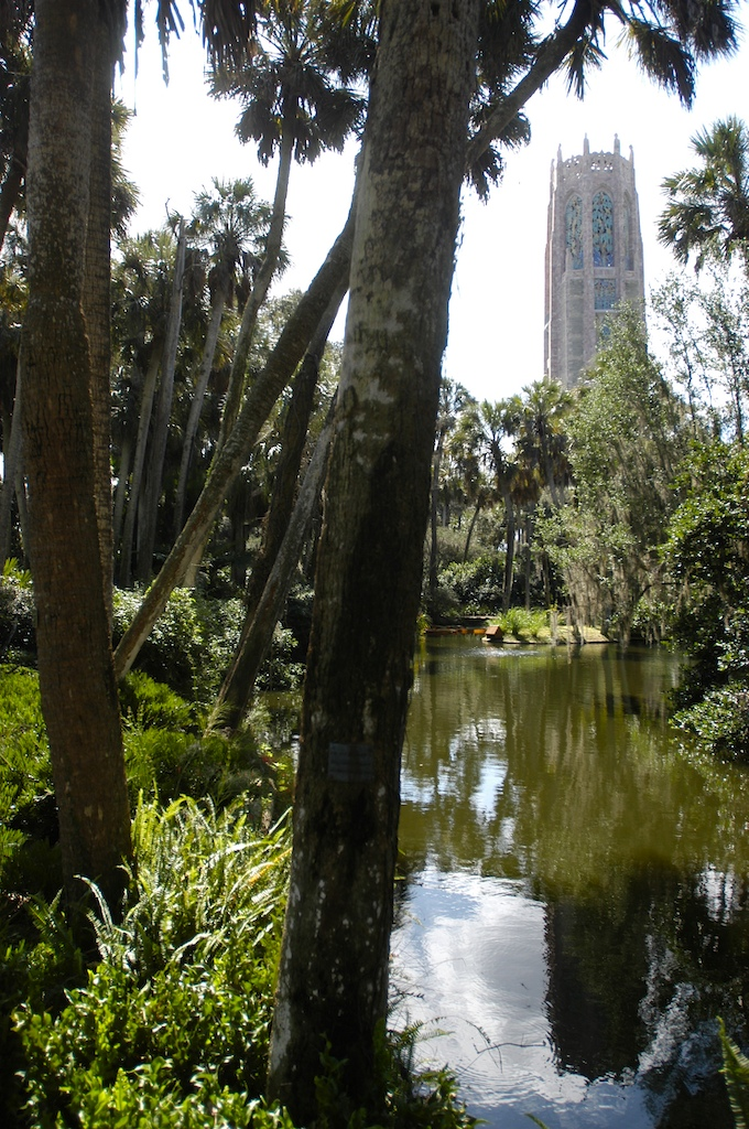 a classic view of Bok Tower, photo by Robert Leedy