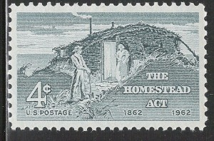 Homestead Act Postage Stamp