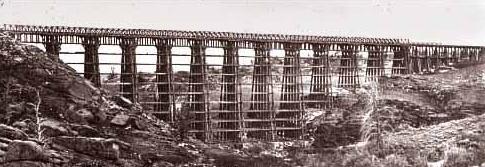 Dale Creek Bridge by A J Russell