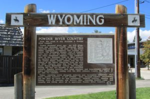 Wyoming Powder River Sign