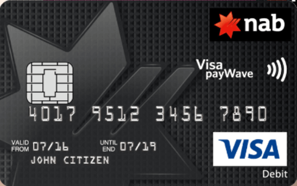 NAB Visa Debit Card Example