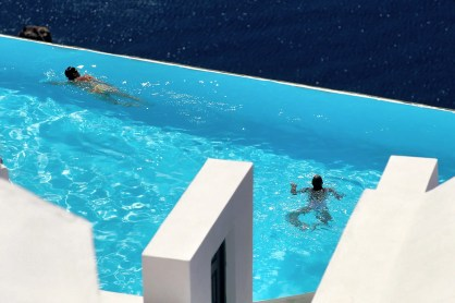Photograph of Katikies Hotel swimming pool, Oia (Ia), Santorini Island, Greece