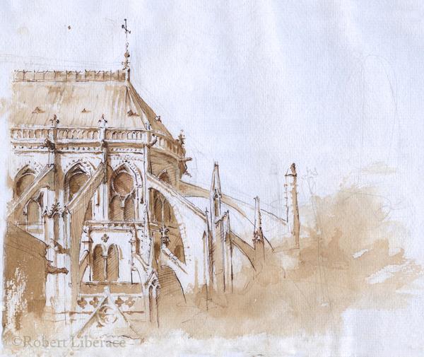 Robert Liberace, ink-Notre Dame