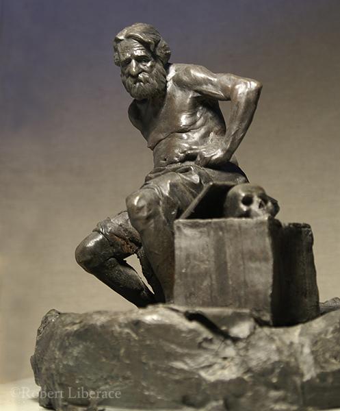 Robert Liberace, Saint Jerome, terra-cotta
