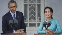 Aung San Suu Kyi (Ahng Sahn Soo Chee. Ahng Sahn Soo Chee. Ahng Sahn Soo Chee. Easy after a bit of practice.)