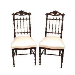 Victorian Rosewood Chairs Twin Chair Sleeper Bed Robert Morrissey Antiques Fine Pair Of