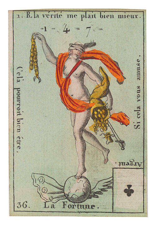 Fortune Small Card Costumes des Peuples Etrangers 1890s DP274090