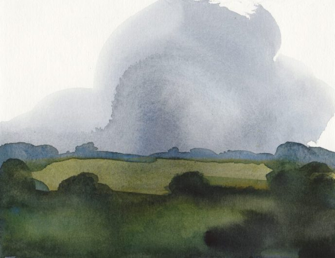 'Cloud' watercolour, 13.5 x 17.5 cm