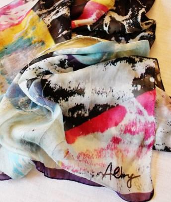 Roberto Alborghetti - Laceractions, Silk scarf, Limited edition (1)
