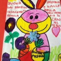 EASTER BUNNY GOES ON POP ART... FUNNY DRAWINGS FROM ITALIAN NURSERY SCHOOL'S KIDS