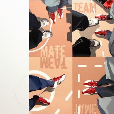 """Pop Metafísico pintura i-am-a-teur obra """"flat-mate,-flat-tame,-flat---,flat"""""""