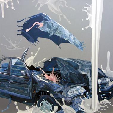"""Pop Metafísico pintura Crash_es obra """"cr-ash I"""""""