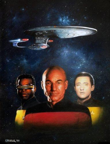 """Painting - """"Star Trek 1995"""" Cover"""