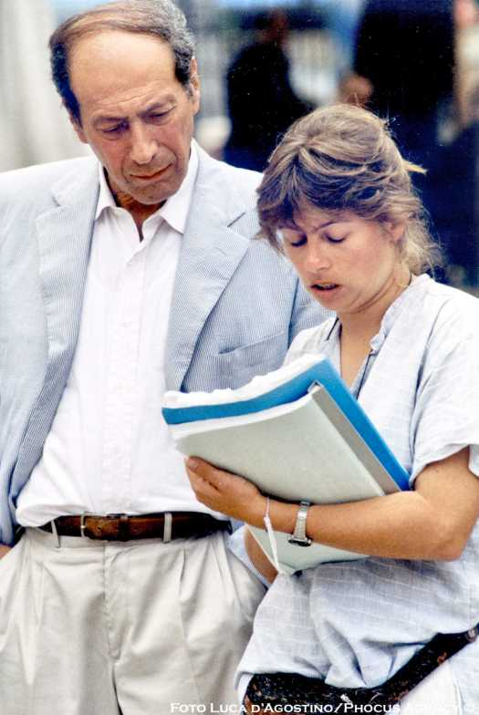 Pressburger durante le prove di Danubio (1997)
