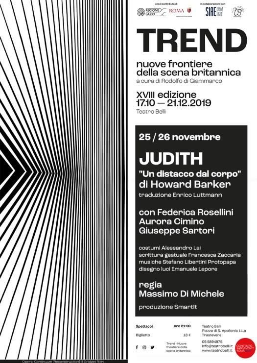 locandina Judith di Howard Barker - regia Massimo Di Michele