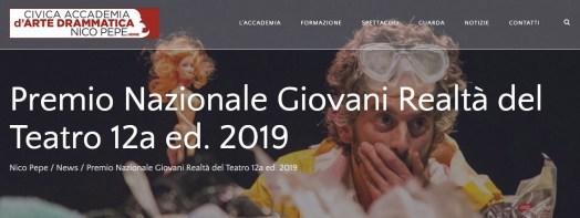 Locandina Giovani realtà del teatro 2019