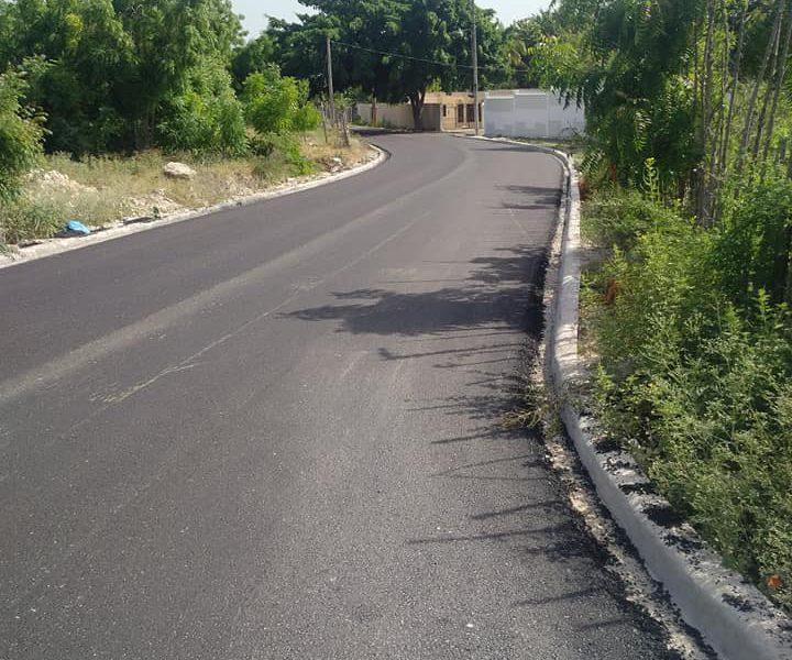 Obras Públicas concluye asfaltado en Punta Palma, Barahona