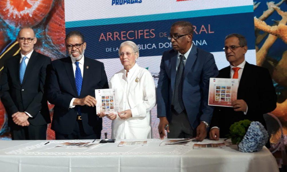 Fundación Propagas y el INPOSDOM ponen en circulación emisión de sellos postales alusiva a los Arrecifes de Coral de República Dominicana