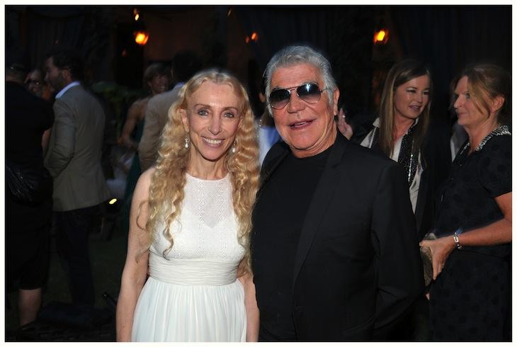 Roberto Cavalli and Franca Sozzani