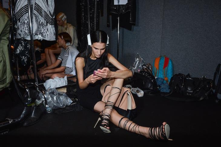 Roberto Cavalli SS 2014 Backstage