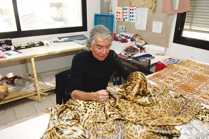 Roberto Cavalli in the Florence headquarter