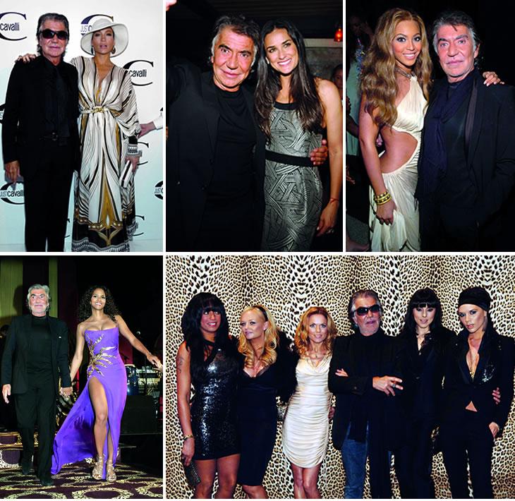 Roberto Cavalli with celebrities